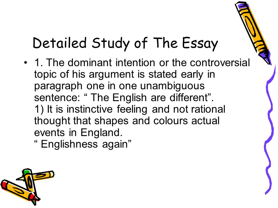 Detailed Study of The Essay