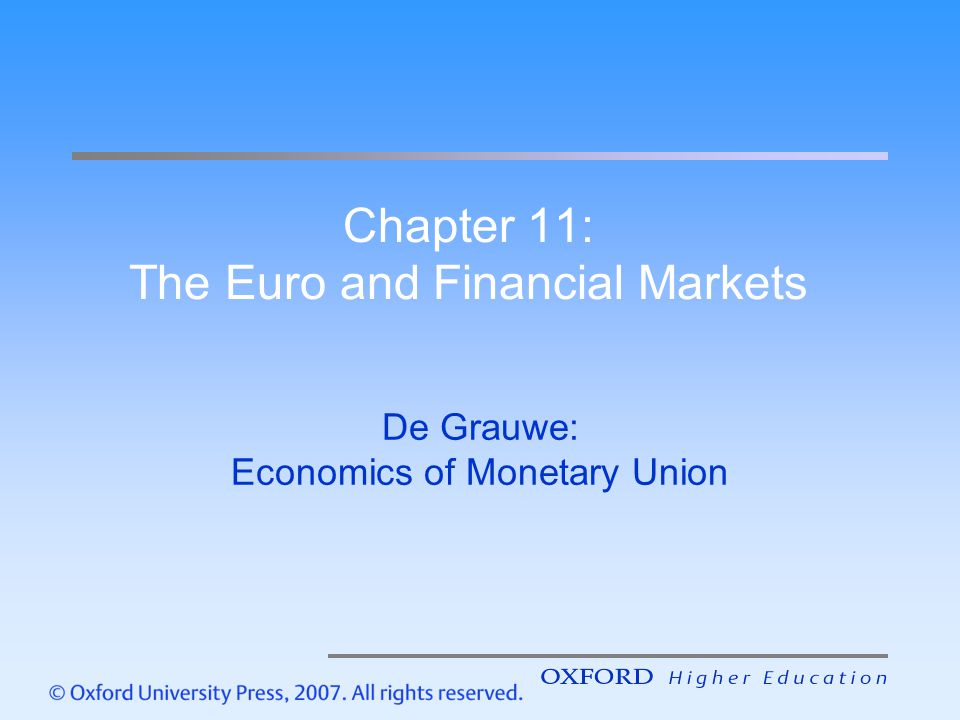 Chapter 11: The Euro and Financial Markets
