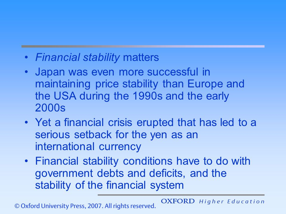 Financial stability matters