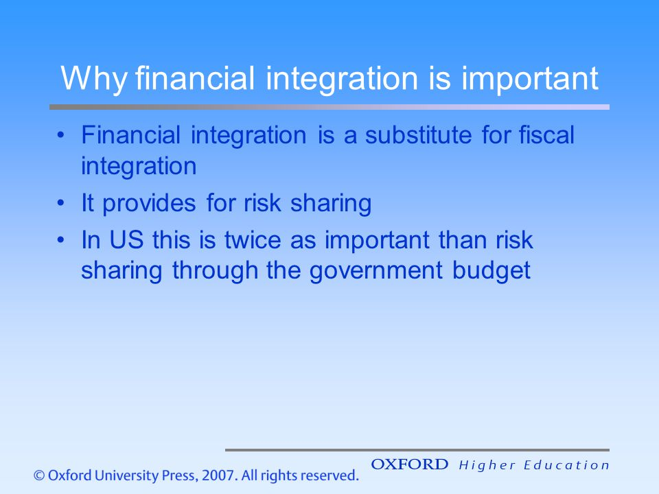Why financial integration is important