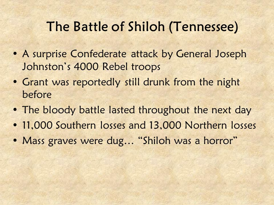 The Battle of Shiloh (Tennessee)