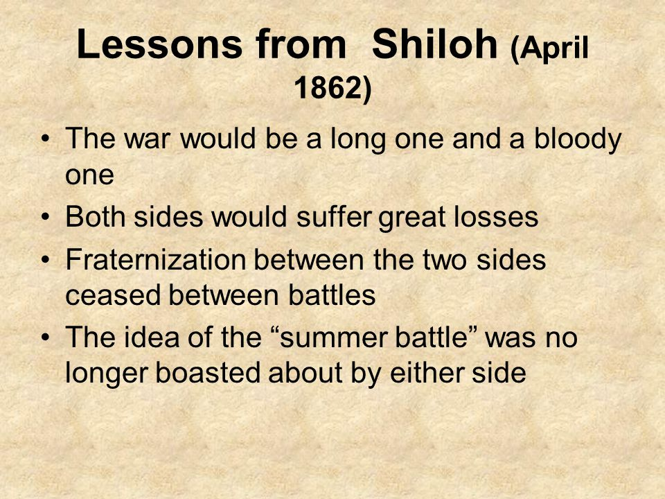 Lessons from Shiloh (April 1862)