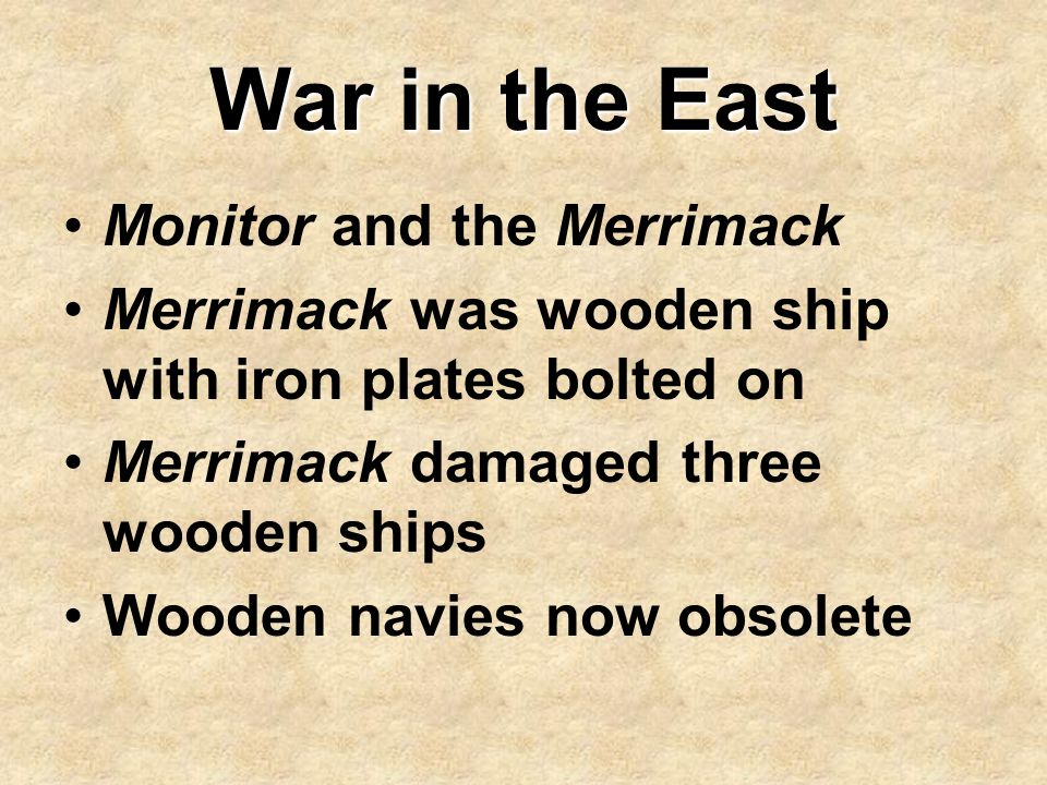 War in the East Monitor and the Merrimack