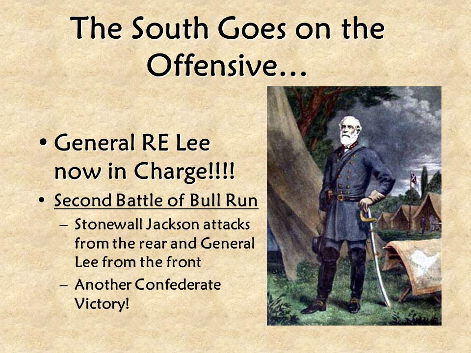 The South Goes on the Offensive…