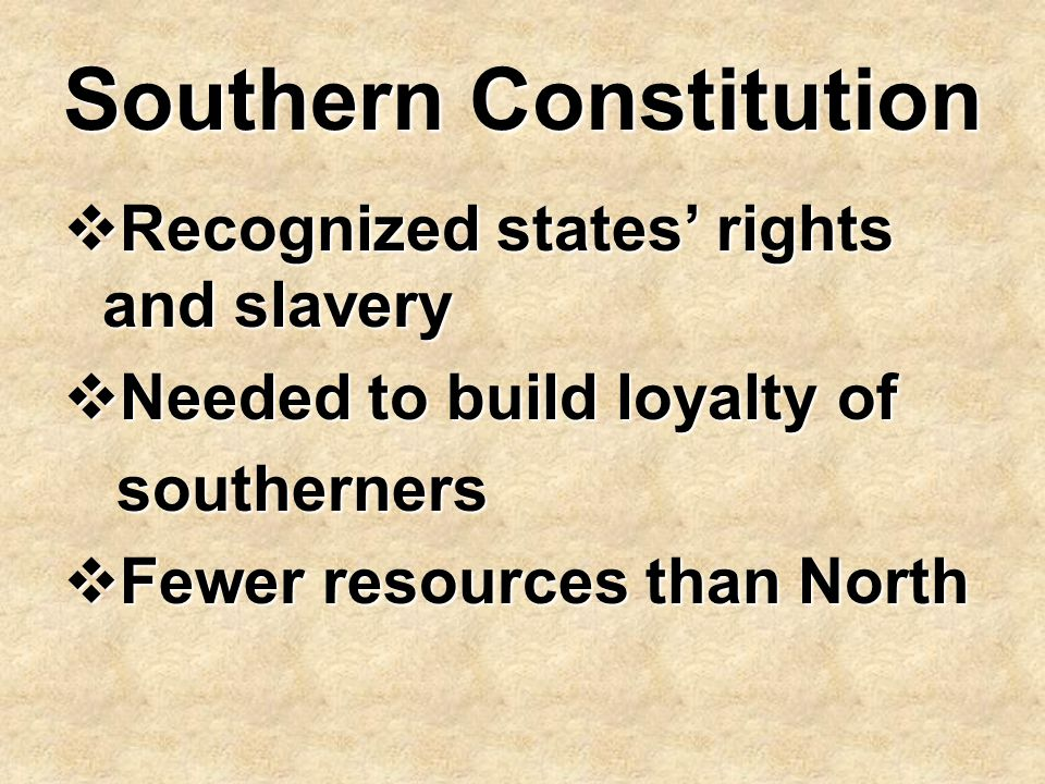 Southern Constitution