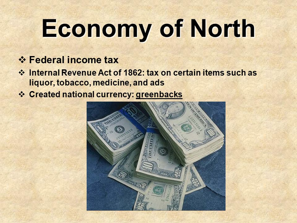Economy of North Federal income tax