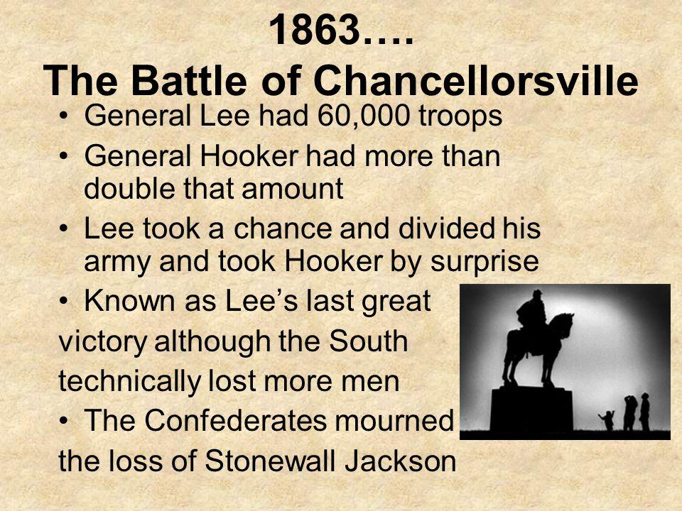 1863…. The Battle of Chancellorsville