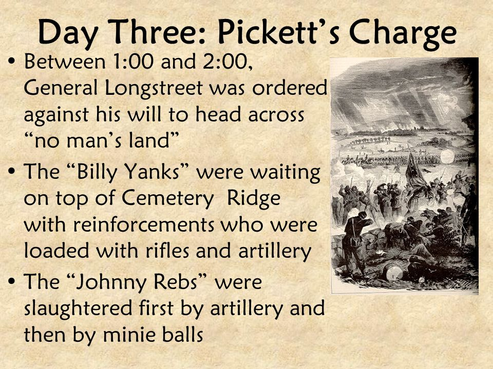 Day Three: Pickett's Charge