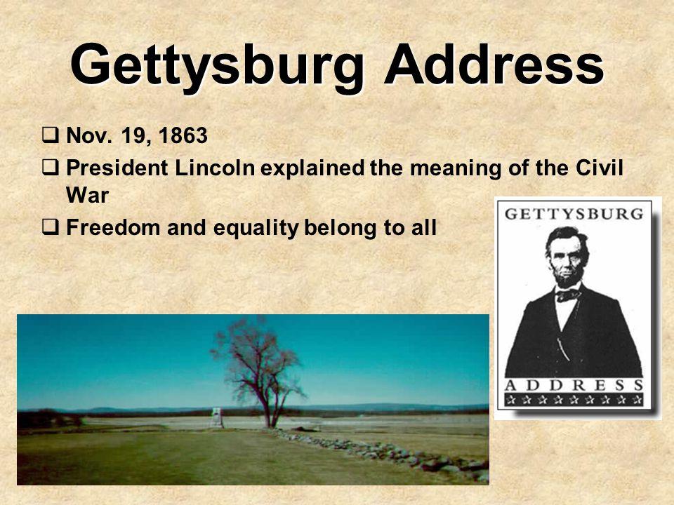 Gettysburg Address Nov. 19, 1863