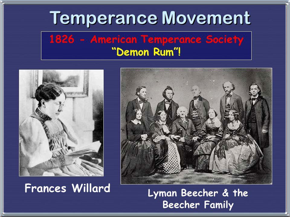 Temperance Movement Frances Willard