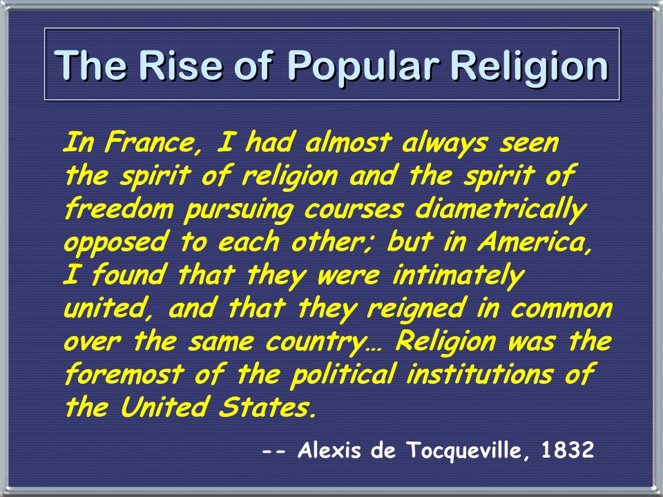 The Rise of Popular Religion