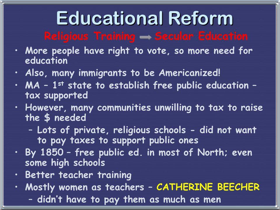 Religious Training Secular Education