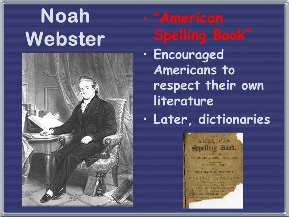 Noah Webster American Spelling Book
