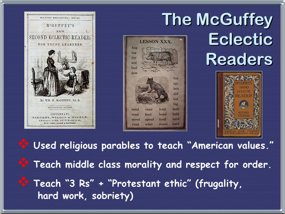 The McGuffey Eclectic Readers