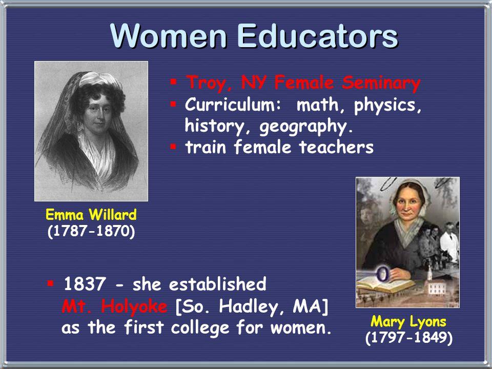 Women Educators Troy, NY Female Seminary