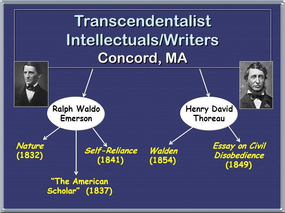 transcendentalism in nature by ralph waldo emerson and in walking by henry david thoreau Transcendentalism and nature the transcendentalists ralph waldo emerson henry david thoreau & emerson i hate quotations tell me what you know is it so bad, then, to be misunderstood pythagoras was misunderstood, and socrates, and jesus, and luther, and copernicus, and galileo, and newton, and.