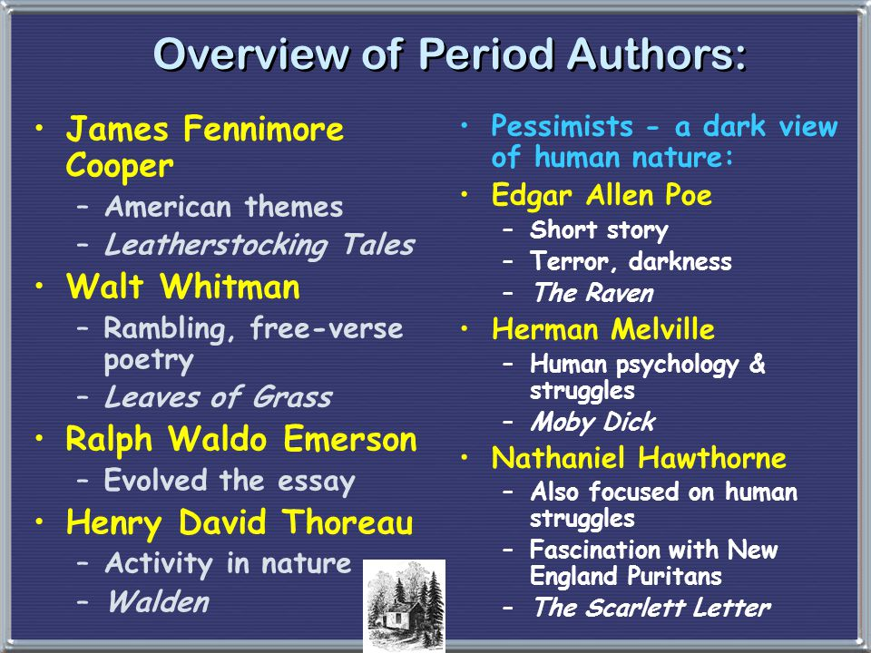 Overview of Period Authors: