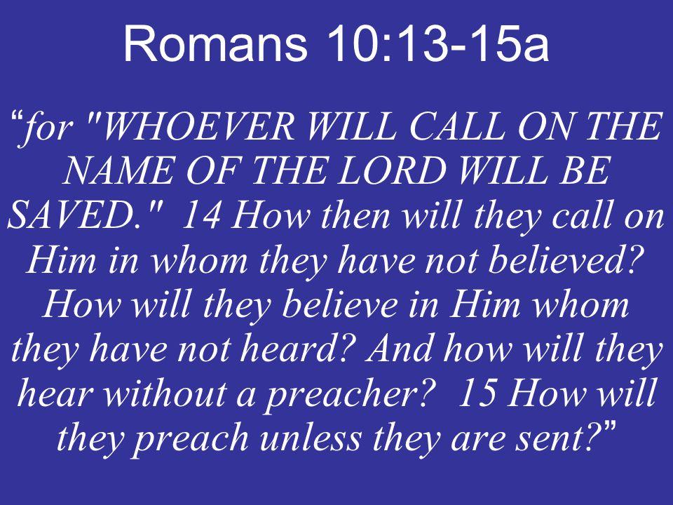 Romans 10:13-15a