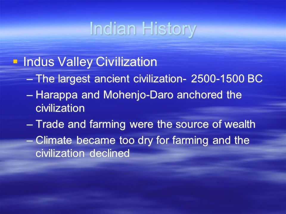 Indian History Indus Valley Civilization