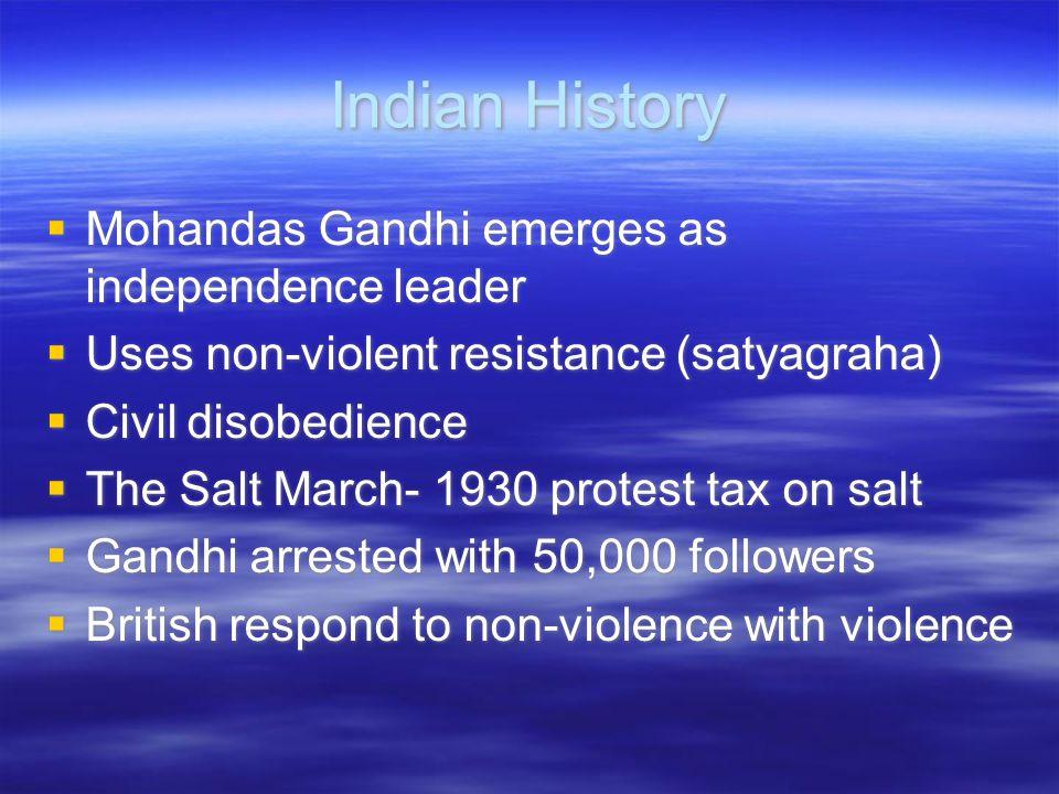 Indian History Mohandas Gandhi emerges as independence leader