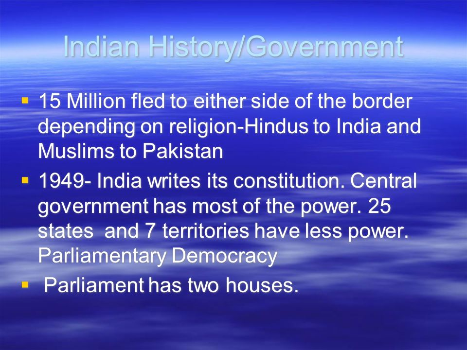 Indian History/Government