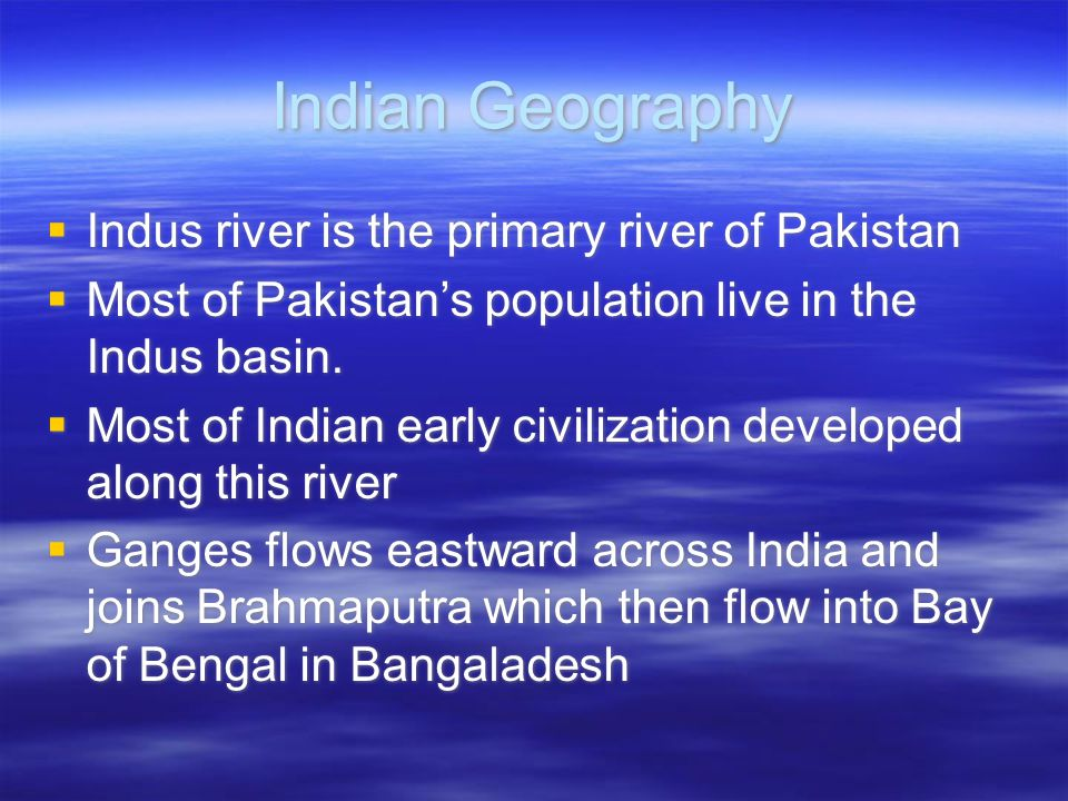 Indian Geography Indus river is the primary river of Pakistan