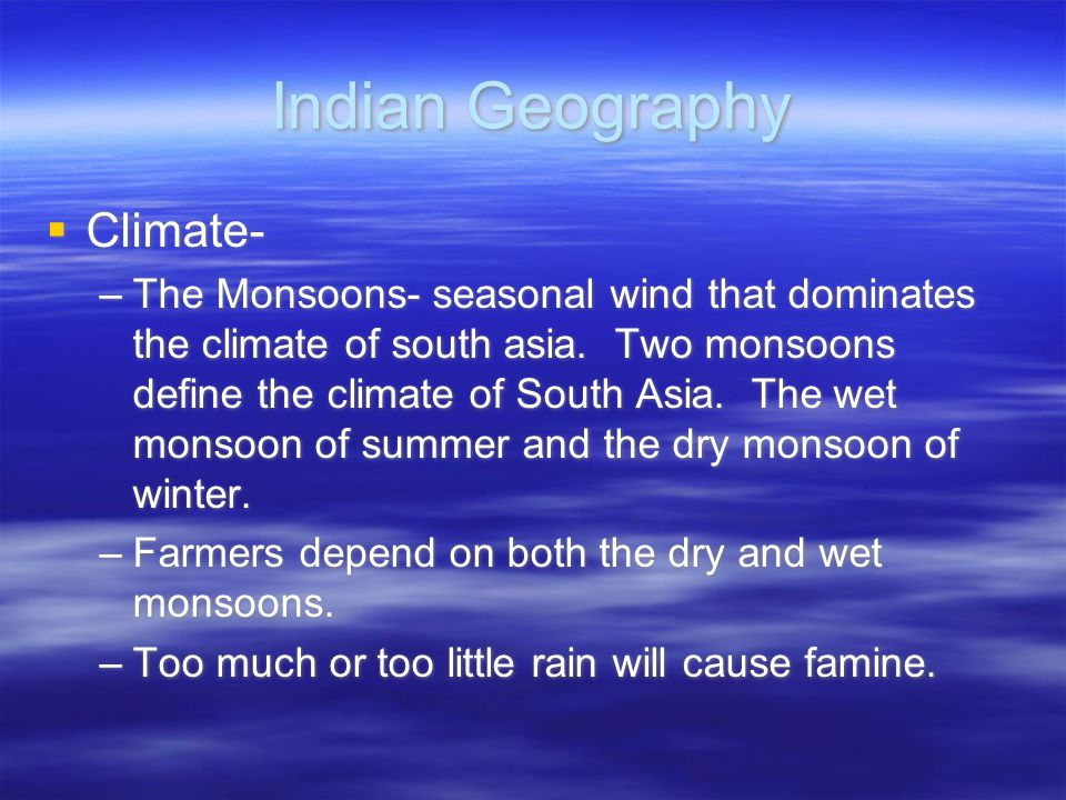 Indian Geography Climate-