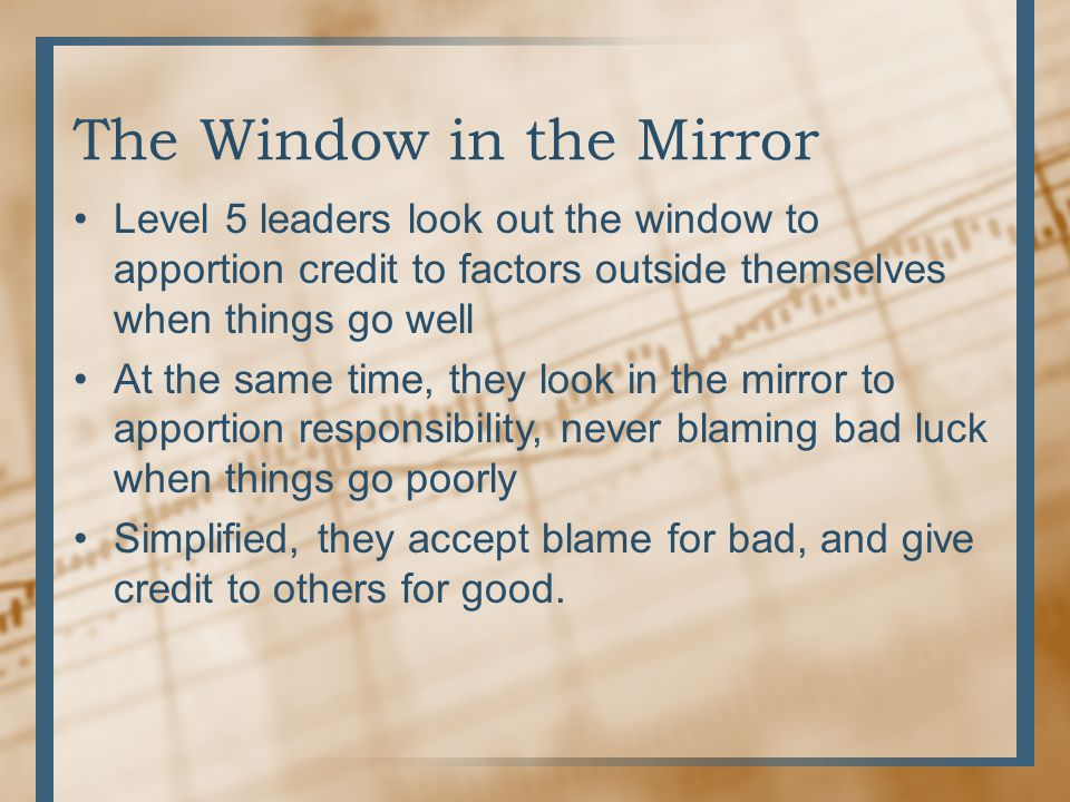 The Window in the Mirror