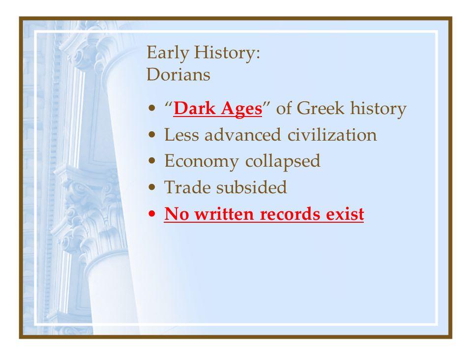 Early History: Dorians