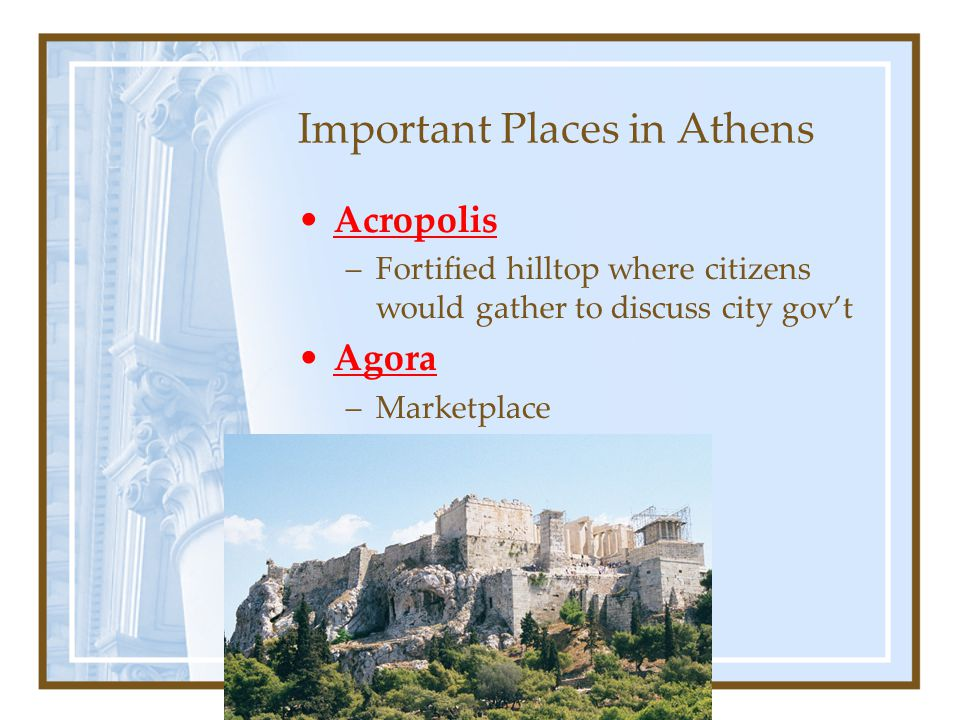 Important Places in Athens