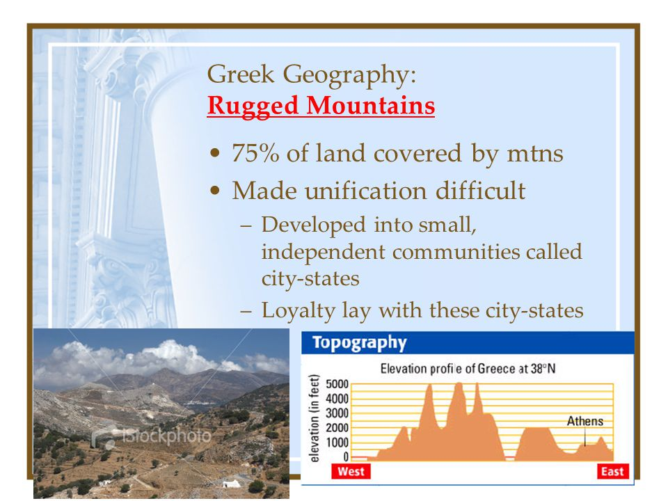 Greek Geography: Rugged Mountains