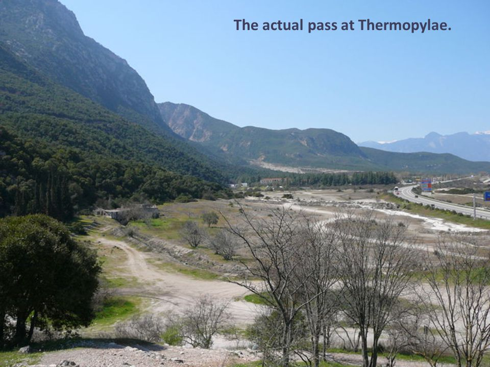 The actual pass at Thermopylae.