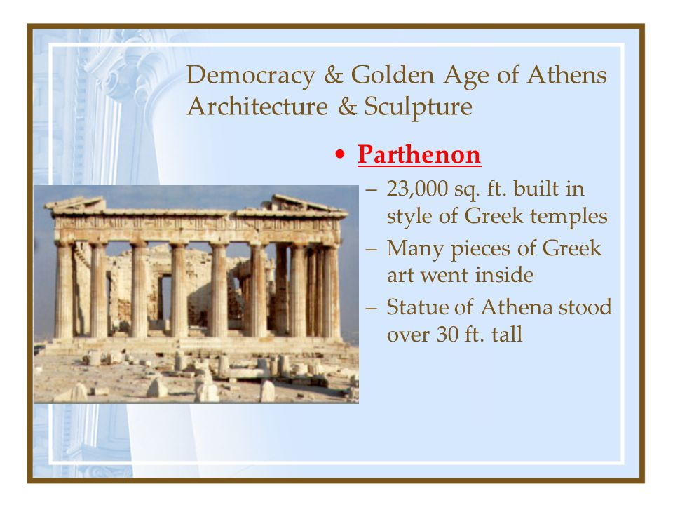 Democracy & Golden Age of Athens Architecture & Sculpture