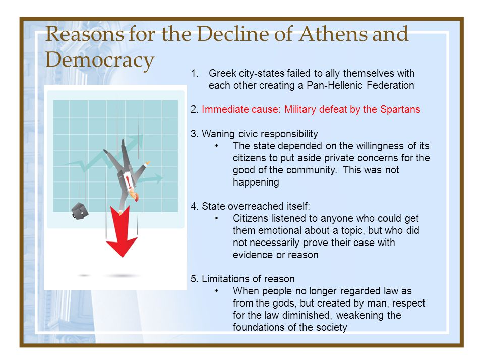Reasons for the Decline of Athens and Democracy