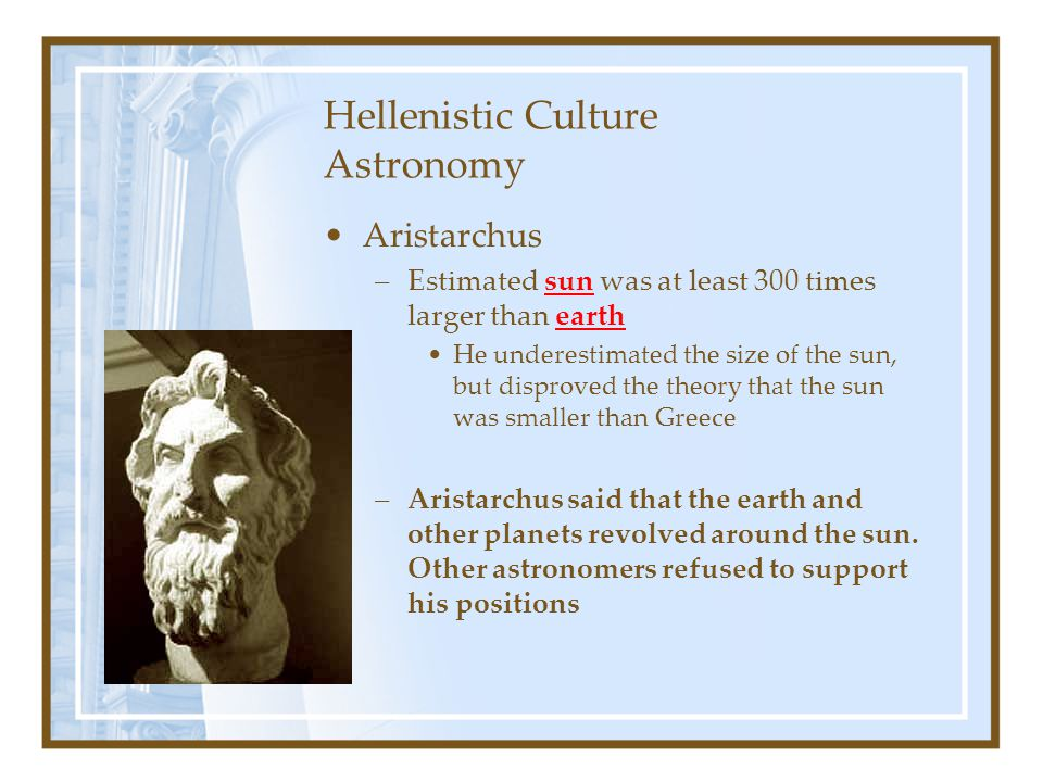 Hellenistic Culture Astronomy