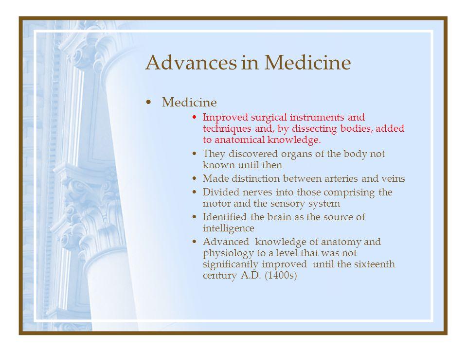 Advances in Medicine Medicine