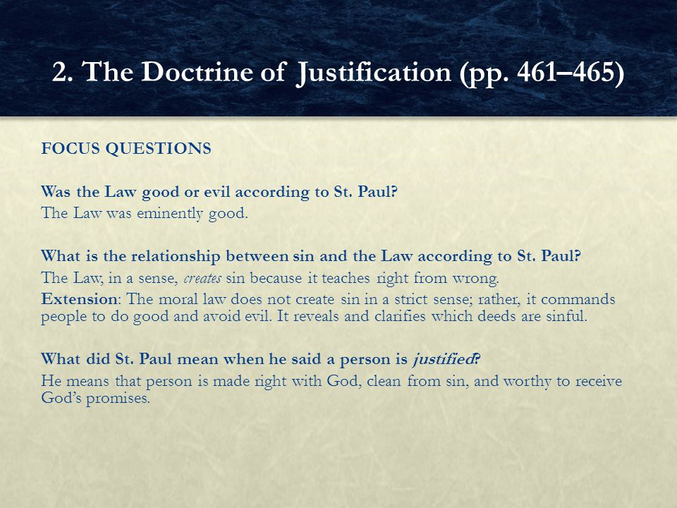 2. The Doctrine of Justification (pp. 461–465)