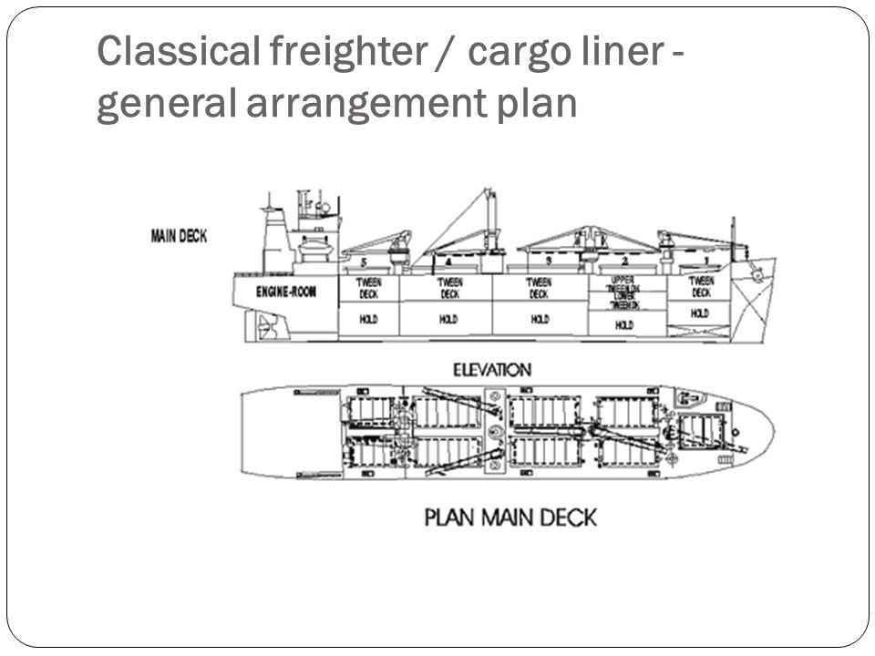 Classical freighter / cargo liner - general arrangement plan