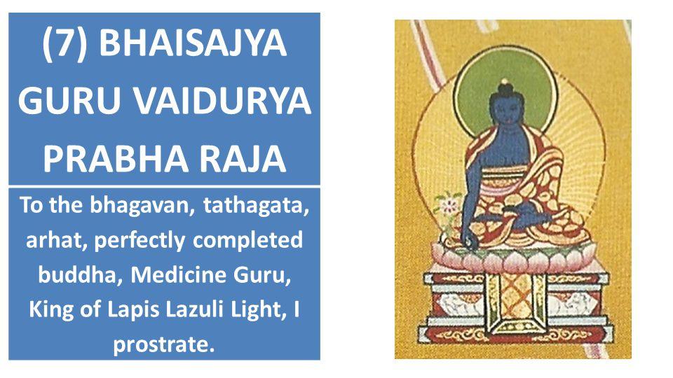 (7) BHAISAJYA GURU VAIDURYA PRABHA RAJA