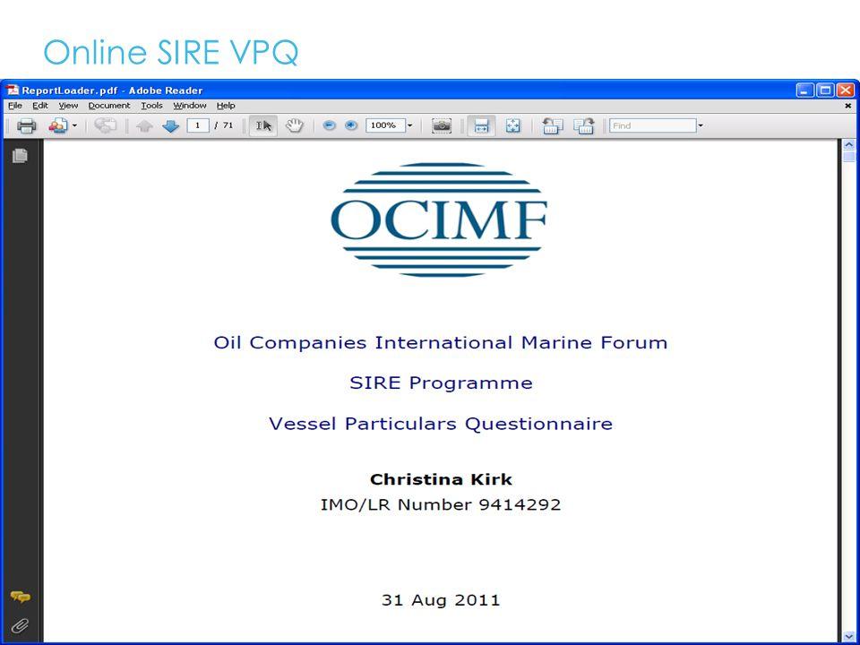 Online SIRE VPQ 15