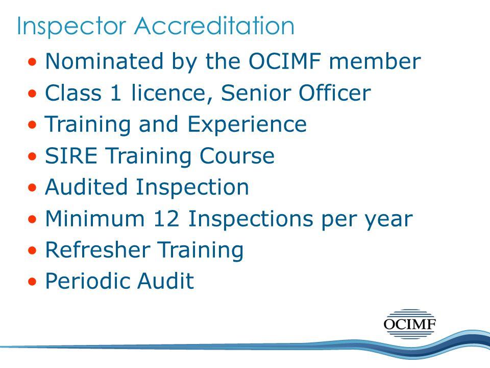 Inspector Accreditation