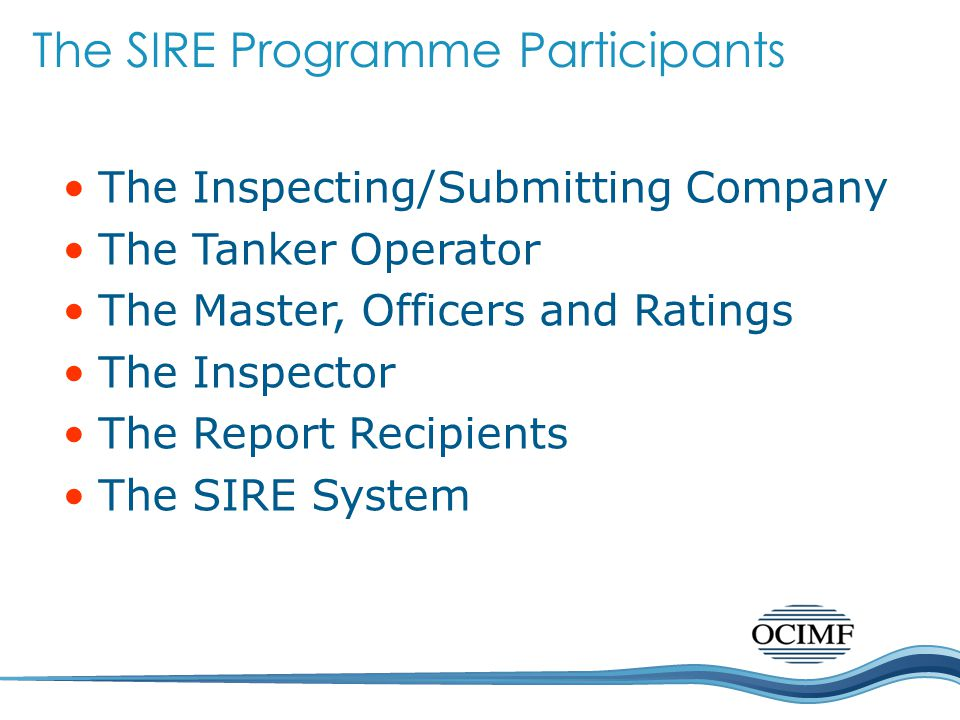The SIRE Programme Participants