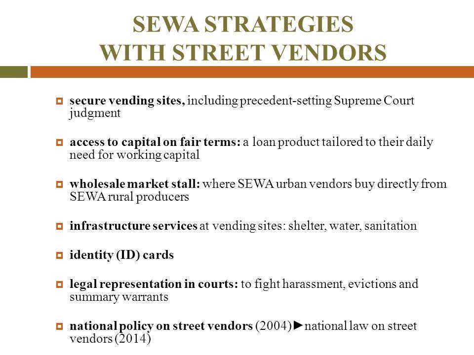 SEWA STRATEGIES WITH STREET VENDORS