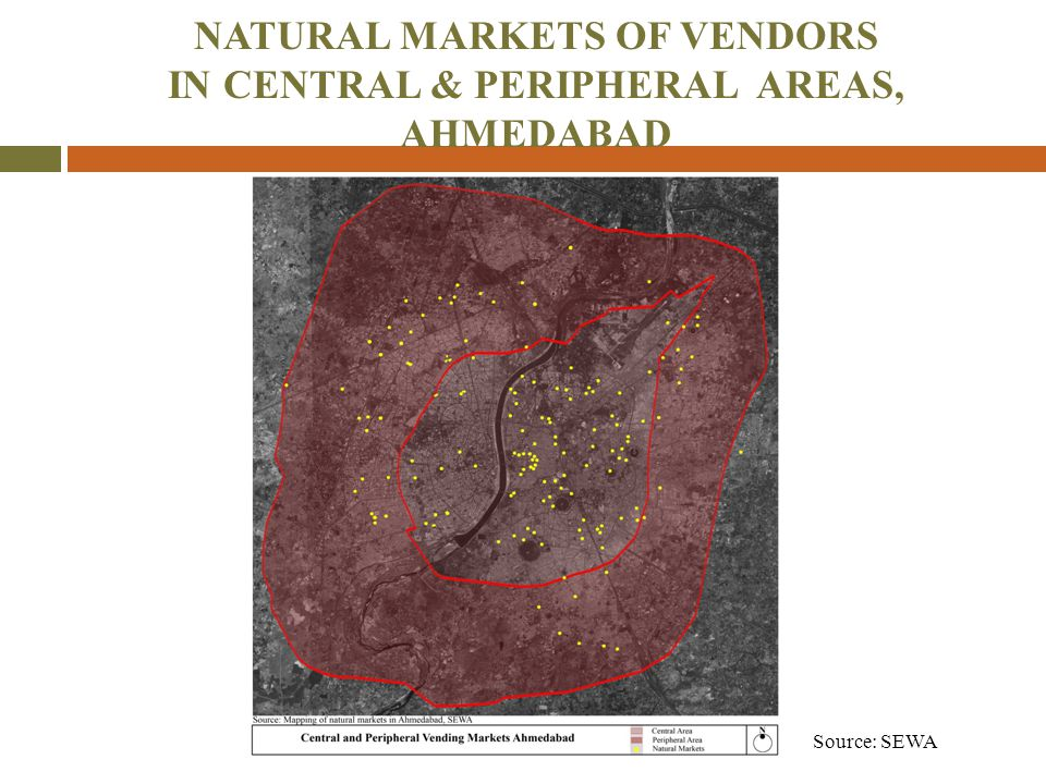 NATURAL MARKETS OF VENDORS IN CENTRAL & PERIPHERAL AREAS, AHMEDABAD