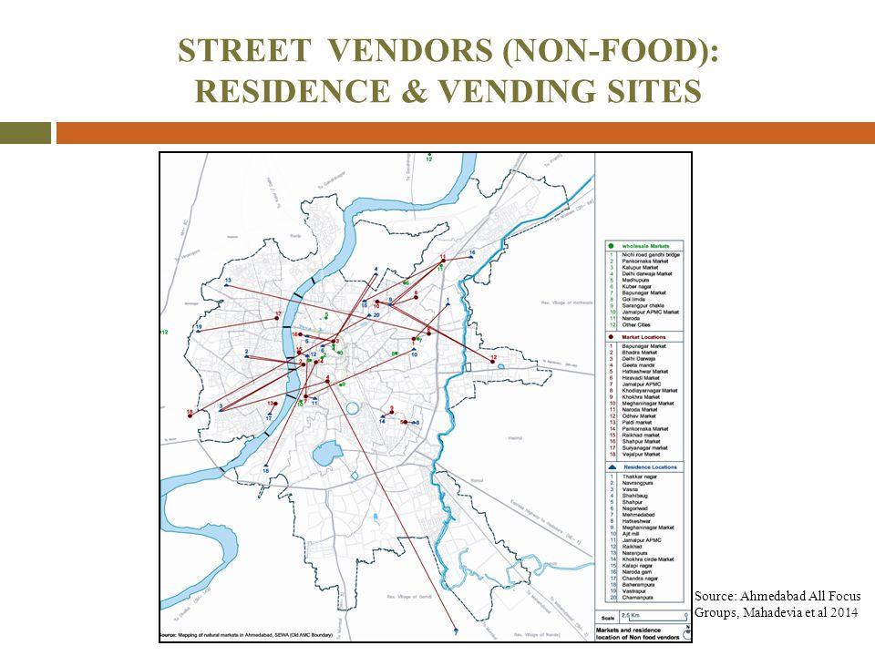 STREET VENDORS (NON-FOOD): RESIDENCE & VENDING SITES