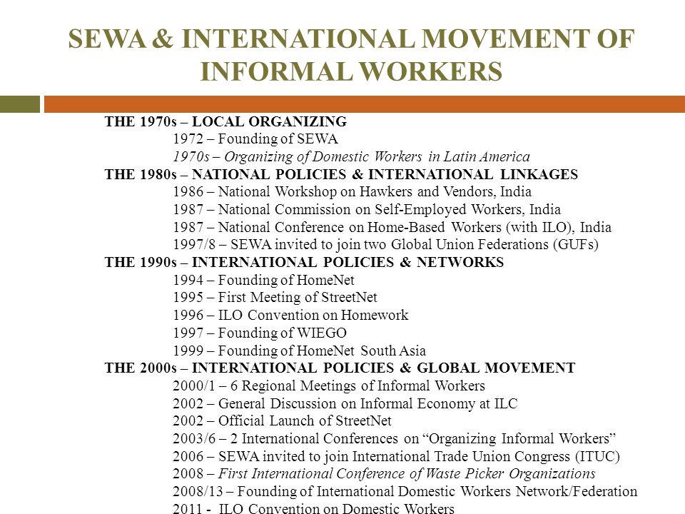 SEWA & INTERNATIONAL MOVEMENT OF INFORMAL WORKERS