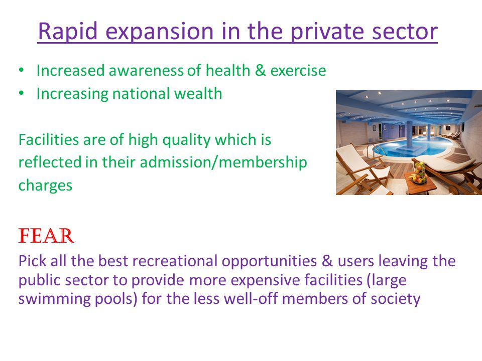 Rapid expansion in the private sector