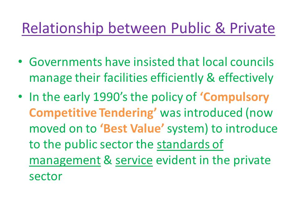 Relationship between Public & Private