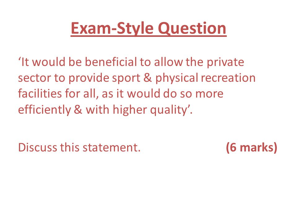 Exam-Style Question