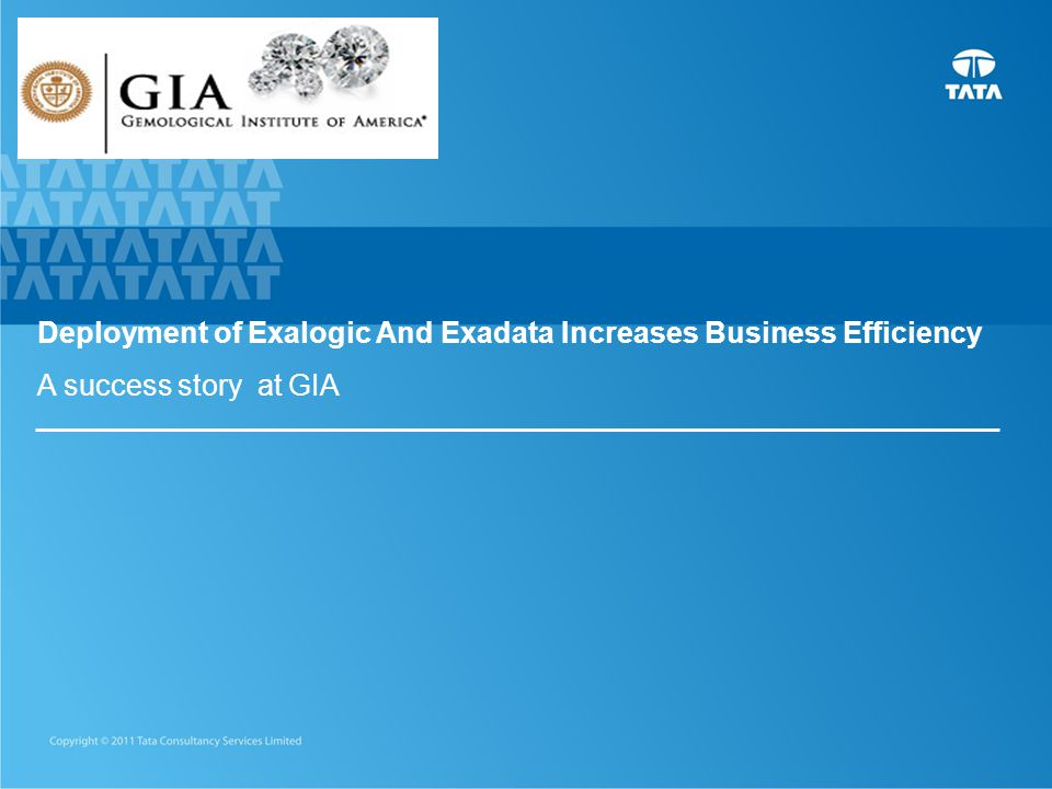 Deployment of Exalogic And Exadata Increases Business Efficiency A success story at GIA